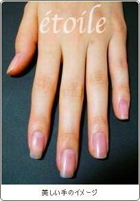 美しい手のイメージ
